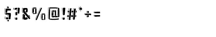 Frankenstein Stencil Font OTHER CHARS