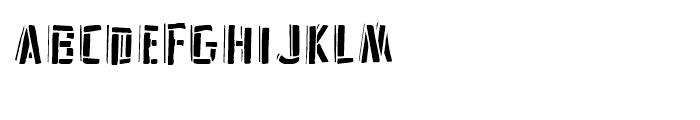 Frankenstein Stencil Font UPPERCASE