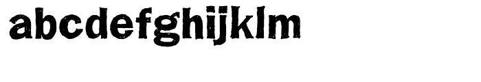 Franklin Gothic Hand Demi Font LOWERCASE