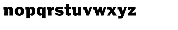 Franklin Gothic Raw Semi Serif Heavy Font LOWERCASE