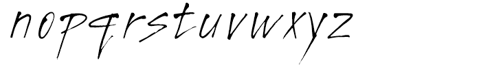 Freaky Prickle Regular Font LOWERCASE