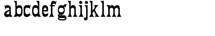 Fredericksburg NF Regular Font LOWERCASE