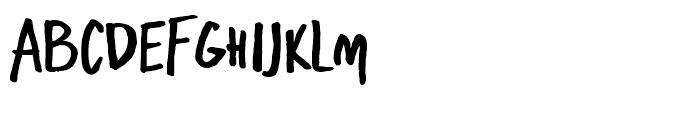 Freehand Brush Blockletter Bold Font LOWERCASE