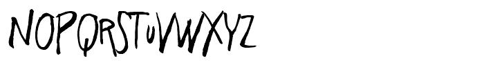 Freehand Brush Blockletter Regular Font LOWERCASE
