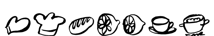 Freehand Brush Icon Food Font OTHER CHARS
