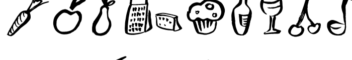 Freehand Brush Icon Food Font UPPERCASE