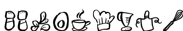 Freehand Brush Icon Food Font LOWERCASE