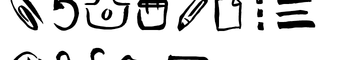 Freehand Brush Icon UI Font UPPERCASE