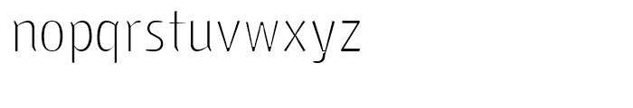 Fria Standard Font LOWERCASE