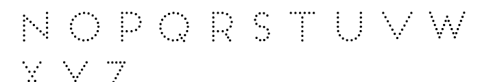 Frontage Bulb Font LOWERCASE