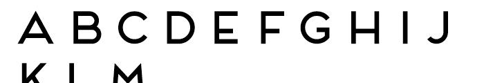 Frontage Regular Font UPPERCASE