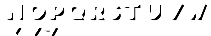 Frontage Shadow Font UPPERCASE