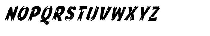Frontline Oblique Font UPPERCASE