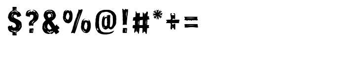 Frontline Regular Font OTHER CHARS