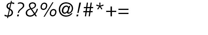 Frutiger 46 Light Italic Font OTHER CHARS