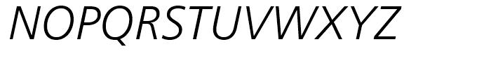 Frutiger 46 Light Italic Font UPPERCASE