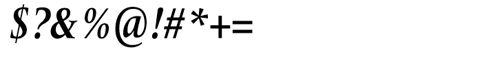 Frutiger Serif Condensed Bold Italic Font OTHER CHARS