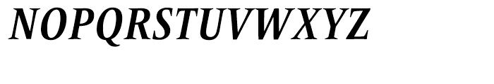 Frutiger Serif Condensed Bold Italic Font UPPERCASE