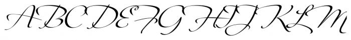 Fragrance Regular Font UPPERCASE