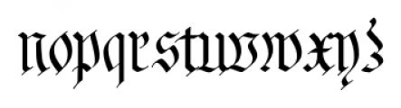 Fraktur No2 Pro Regular Font LOWERCASE