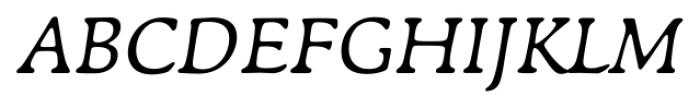 Francesco Italic Font UPPERCASE