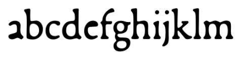 Francesco Regular Font LOWERCASE