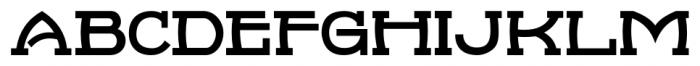 French Serif Moderne JNL Regular Font UPPERCASE