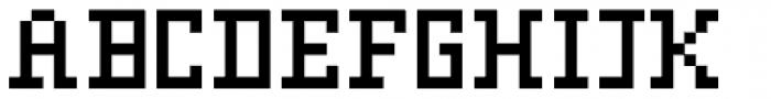 FR73 Pixel D Font UPPERCASE