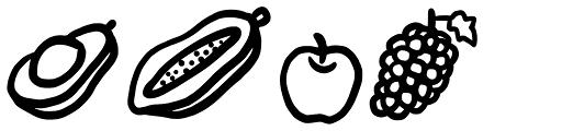 FRUiTZ doodles Font LOWERCASE