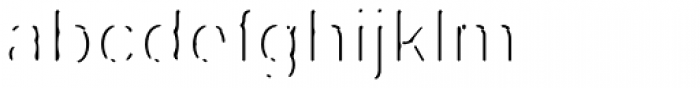 Fragment Pro Inline Lit Font LOWERCASE
