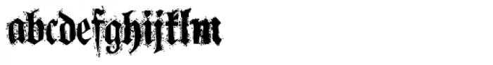 Fraktape Sticky Font LOWERCASE
