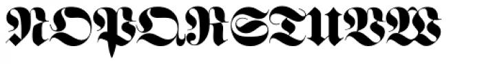 Fraktur EF Bold Font UPPERCASE
