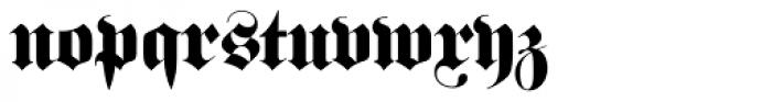 Fraktur EF Bold Font LOWERCASE