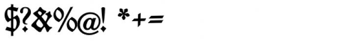 Fraktur No4 Font OTHER CHARS