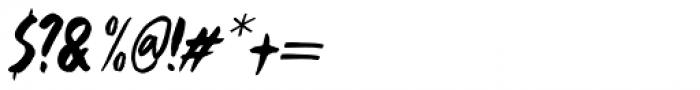 Framboisier Italic Font OTHER CHARS