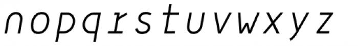 Framework Mono Light Italic Font LOWERCASE