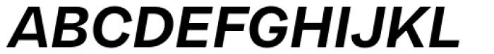 Franca Bold Italic Font UPPERCASE
