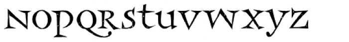 Frances Uncial LET Plain Font LOWERCASE
