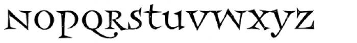 Frances Uncial Std Font LOWERCASE