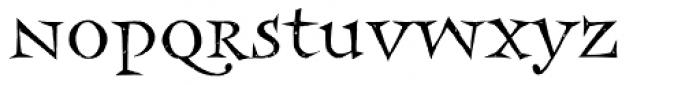 Frances Uncial Font LOWERCASE