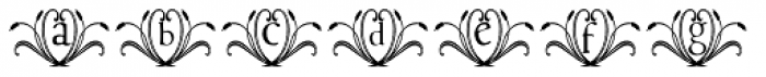 Francesco Decorative Font LOWERCASE