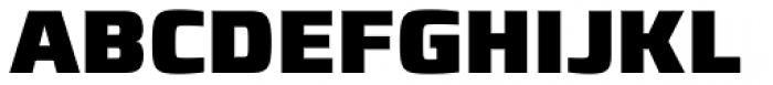Francker Paneuropean W1G Condensed Black Font UPPERCASE