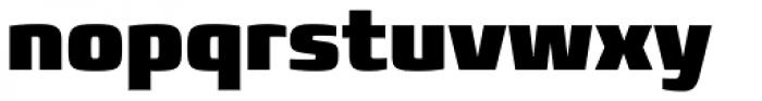 Francker Paneuropean W1G Condensed ExtraBlack Font LOWERCASE