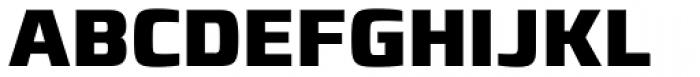 Francker Paneuropean W1G Condensed ExtraBold Font UPPERCASE