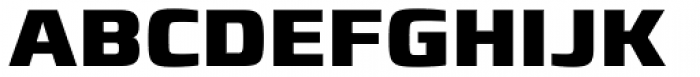 Francker Paneuropean W1G ExtraBold Font UPPERCASE