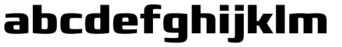 Francker Paneuropean W1G ExtraBold Font LOWERCASE