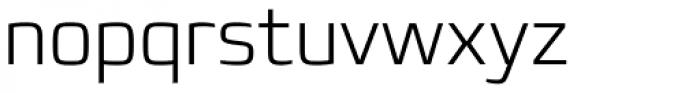 Francker Paneuropean W1G ExtraLight Font LOWERCASE
