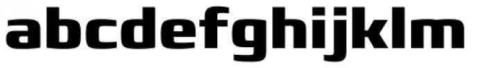 Francker Pro ExtraBold Font LOWERCASE