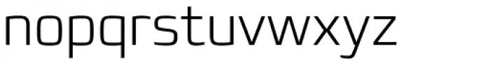 Francker Pro ExtraLight Font LOWERCASE