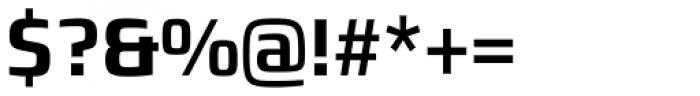 Francker Std Cyrillic Condensed SemiBold Font OTHER CHARS